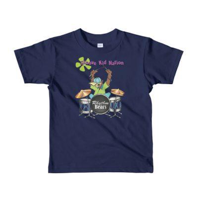 Kids Drum t-shirt — Bear Playing Drums