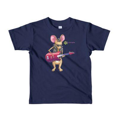Kids Bass Guitar t-shirt — Mouse Playing Bass Guitar