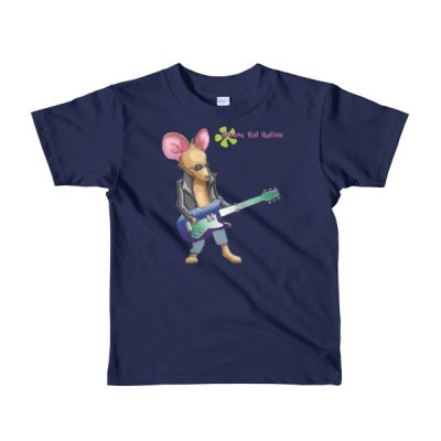 Kids Guitar t-shirt – Mouse Playing Guitar